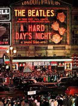 The world premiere of The Beatles' film A Hard Day's Night, London Pavilion, 6 July 1964