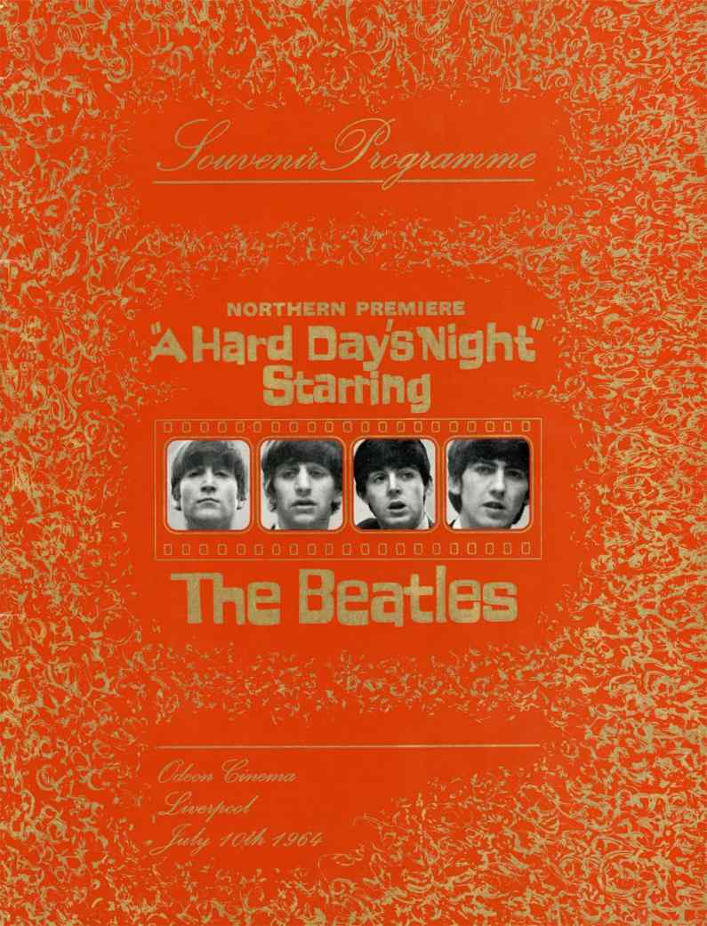 Souvenir programme from the northern (Liverpool) premiere of The Beatles' A Hard Day's Night, 10 July 1964
