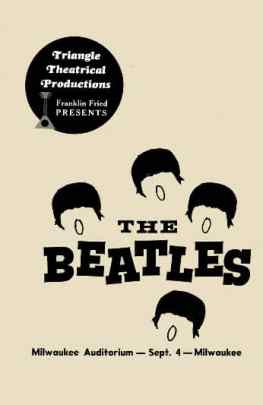 Poster for The Beatles in Milwaukee, 4 September 1964