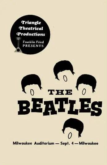 Poster for The Beatles in Milwaukee, 4 September 1964