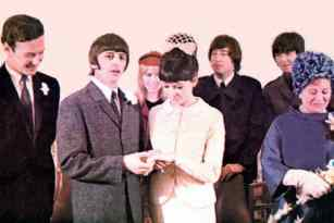 Wedding day of Ringo Starr and Maureen Starkey, 11 February 1965