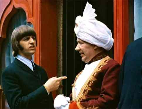 Ringo Starr in the Indian restaurant scene from Help!, April 1965