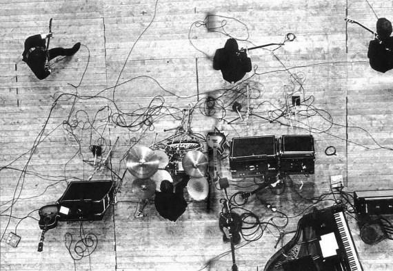 The Beatles on stage at Palais des Sport, Paris, 20 June 1965