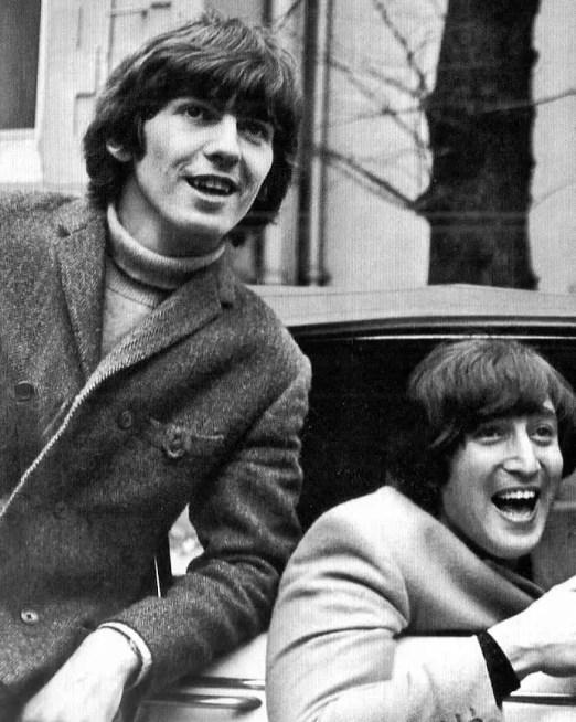 George Harrison and John Lennon, 1965
