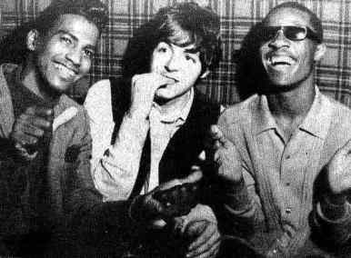 Paul McCartney and Stevie Wonder at the Scotch Of St James club, London, 3 February 1966