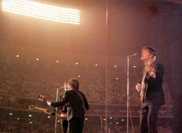 The Beatles at Dodger Stadium, Los Angeles, 28 August 1966
