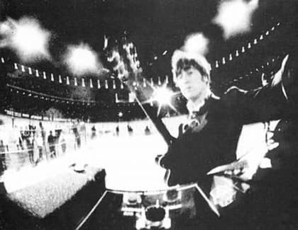 John Lennon at Candlestick Park, San Francisco, 29 August 1966