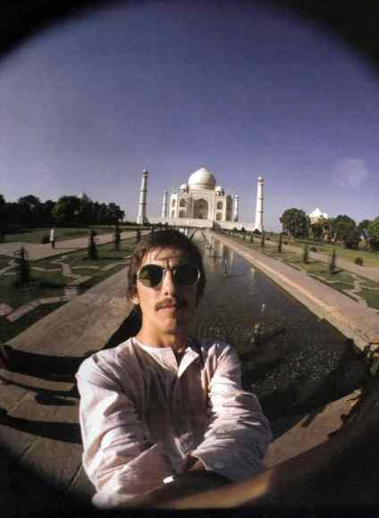 George Harrison at the Taj Mahal, India, September 1966