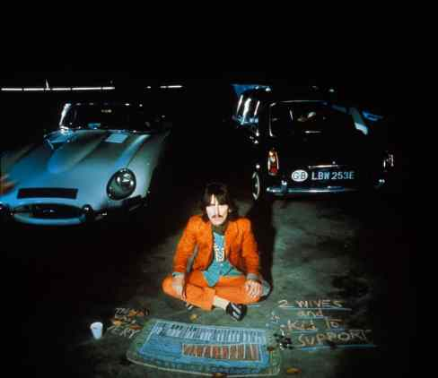 George Harrison filming Blue Jay Way for Magical Mystery Tour, September 1967