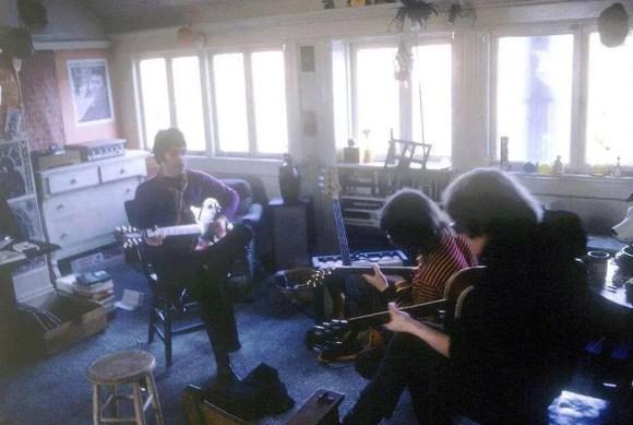 Paul McCartney jamming with Jefferson Airplane, San Francisco, 4 April 1967