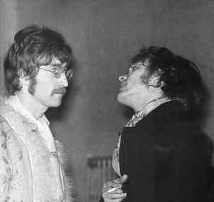 John Lennon and John Dunbar at the 14 Hour Technicolour Dream, 29 April 1967