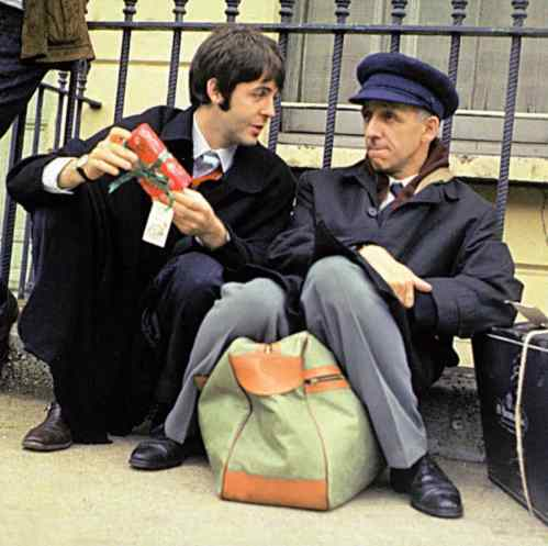 Paul McCartney and Ivor Cutler, 11 September 1967