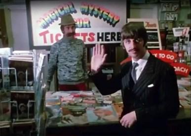 Ringo Starr and John Lennon in Magical Mystery Tour, 22 September 1967