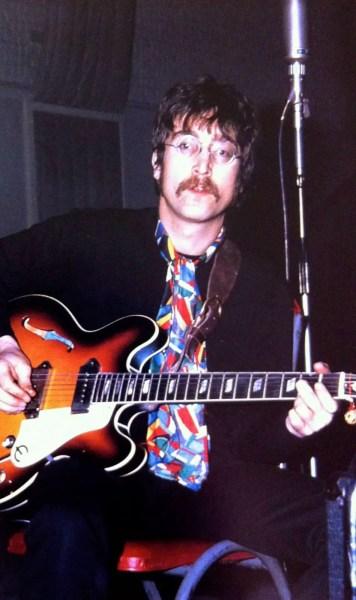 John Lennon at EMI Studios, Abbey Road, 1967