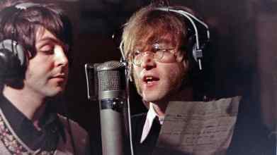 Paul McCartney and John Lennon recording Hey Bulldog, 11 February 1968