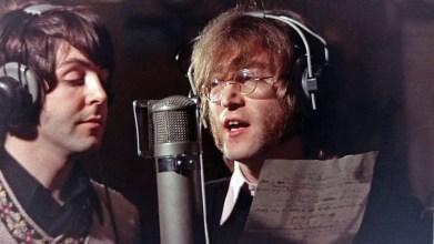 Paul McCartney and John Lennon recording Hey Bulldog, 11 February 1968