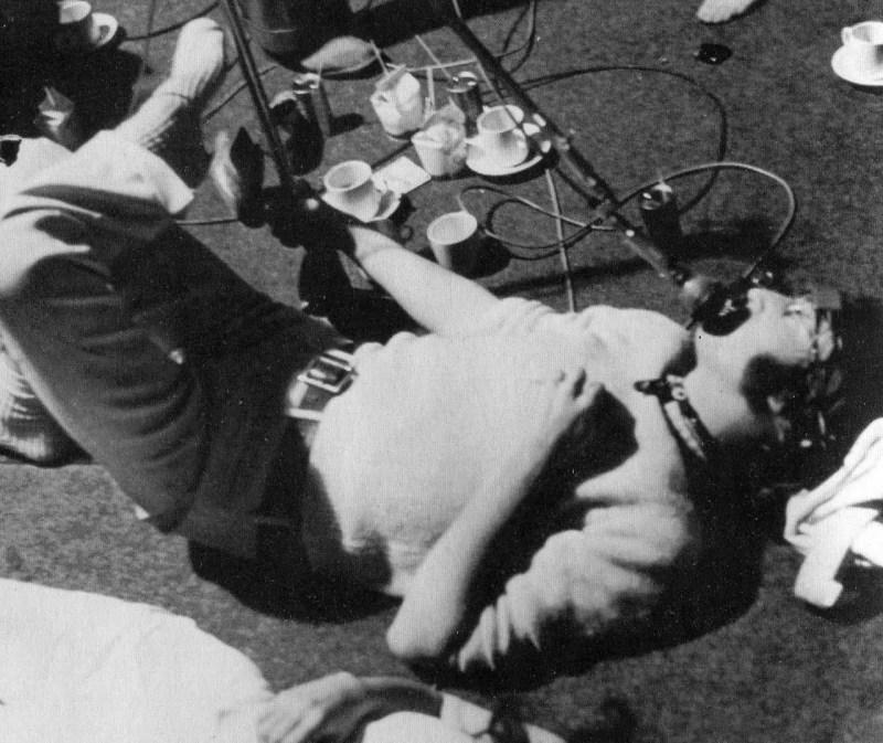 John Lennon recording the vocals for Revolution 1, 4 June 1968