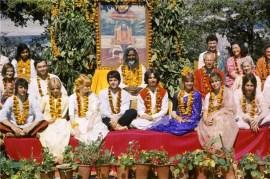 The Beatles in Rishikesh, India with Maharishi Mahesh Yogi, 1968