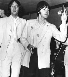 John Lennon and Paul McCartney, New York, 1968