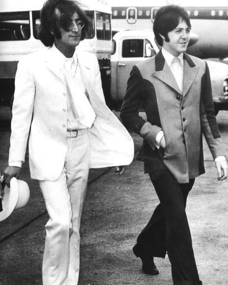 John Lennon and Paul McCartney, 1968