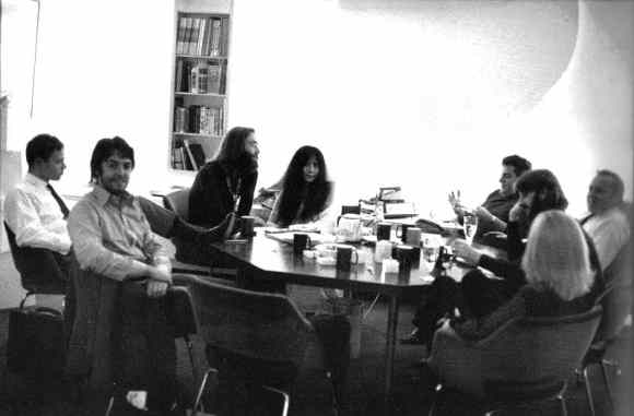 Meeting at The Beatles' company Apple, 1969