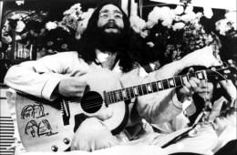 John Lennon recording Give Peace A Chance, 1 June 1969