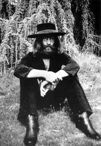 John Lennon at The Beatles' final photography session, Tittenhurst Park, 22 August 1969