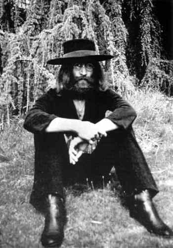 John Lennon at The Beatles' final photography session, Tittenhurst Park, 22 August 1969