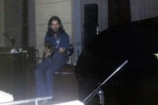 George Harrison recording Abbey Road, 1969