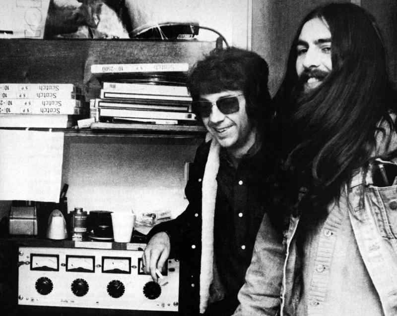 George Harrison and Phil Spector, 1970