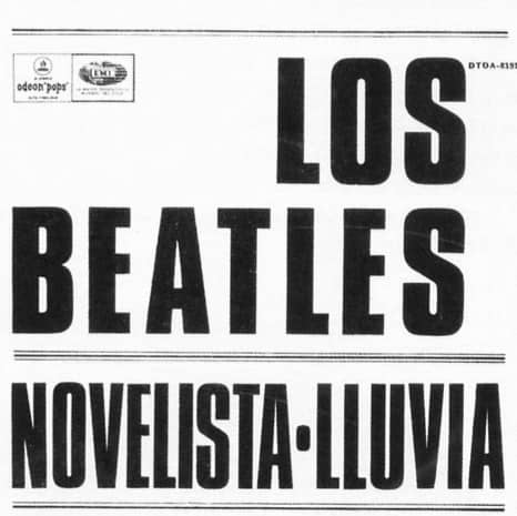 Paperback Writer single artwork - Argentina