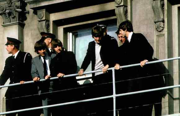 The Beatles at the Clarendon Hotel in Christchurch, New Zealand, 27 June 1964