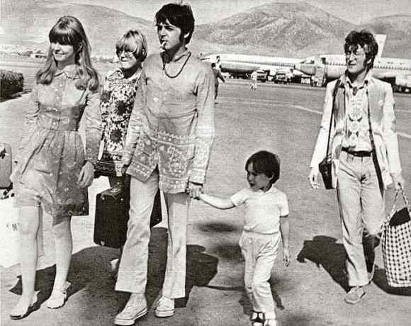 John Lennon and Paul McCartney arrive in Greece, July 1967