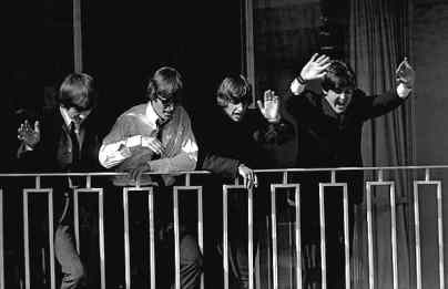 The Beatles at the Sheraton Hotel, Sydney, Australia, June 1964