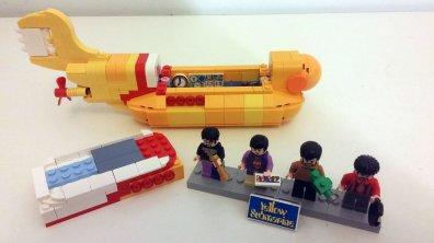 The Beatles' LEGO Yellow Submarine – John, Paul, George and Ringo minifigs