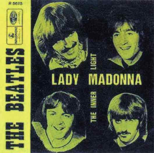 Lady Madonna single artwork - Belgium