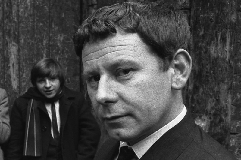 Bob Wooler outside the Cavern Club, Liverpool, 1964