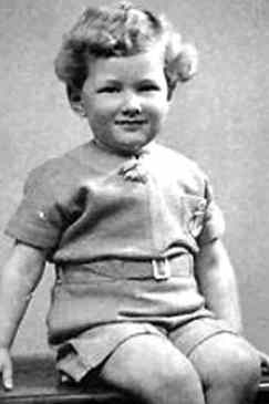 Childhood photograph of Brian Epstein