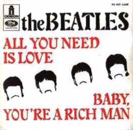 All You Need Is Love single artwork - France