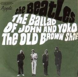 The Ballad Of John And Yoko single artwork - France