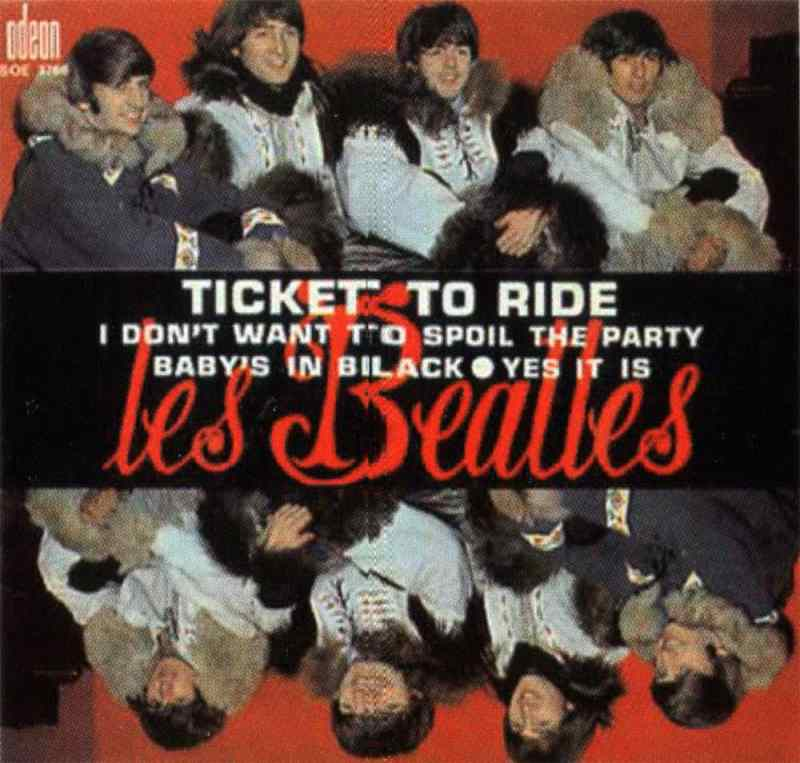 Ticket To Ride EP artwork – France