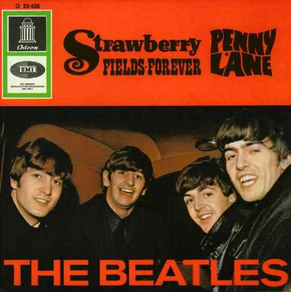 Penny Lane/Strawberry Fields Forever single artwork - Germany