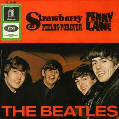 Penny Lane/Strawberry Fields Forever single artwork - Germany
