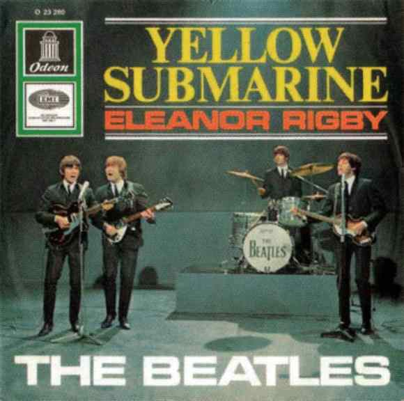 Yellow Submarine/Eleanor Rigby single artwork - Germany