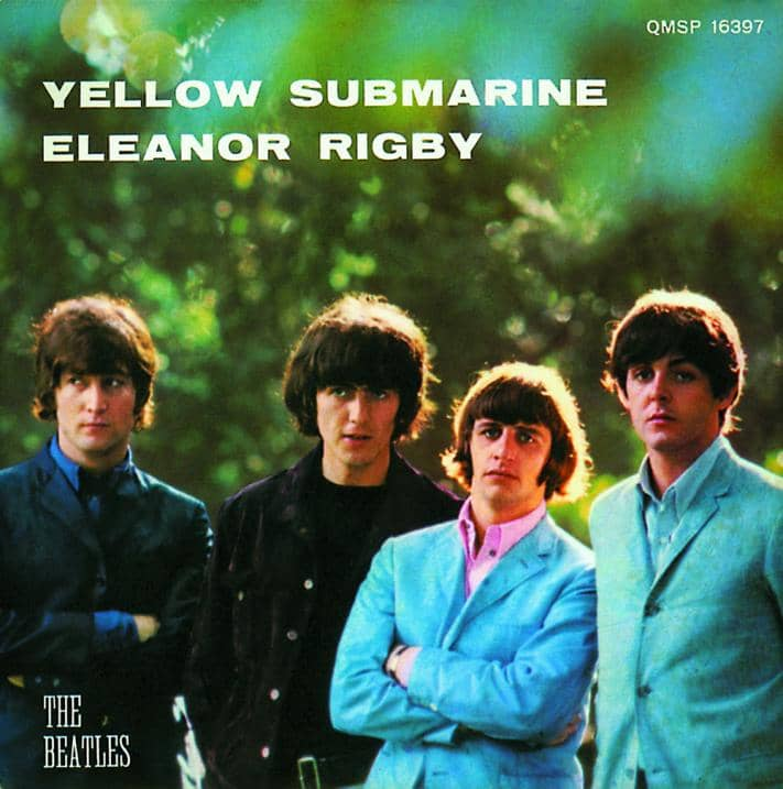 Yellow Submarine/Eleanor Rigby single artwork - Italy