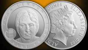 John Lennon commemorative £5 coin, 2010