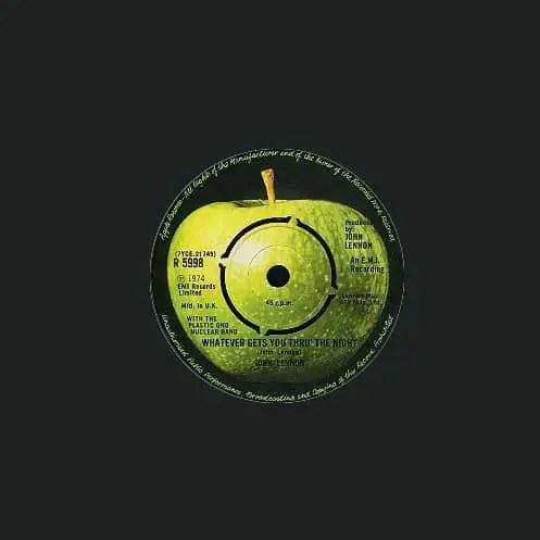 Whatever Gets You Thru The Night single - John Lennon