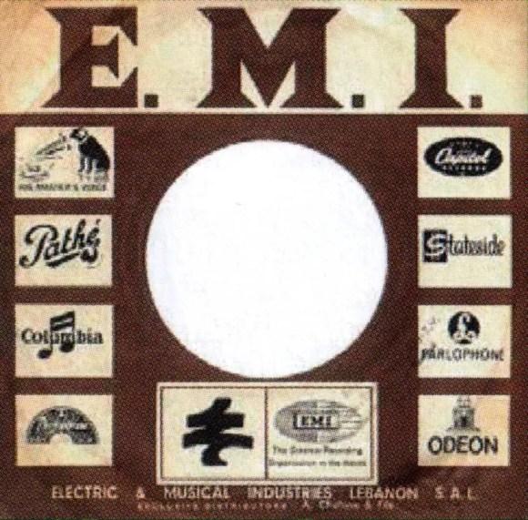 EMI single sleeve, 1968 - Lebanon