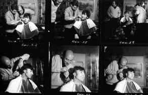 John Lennon gets a haircut for How I Won The War, 6 September 1966