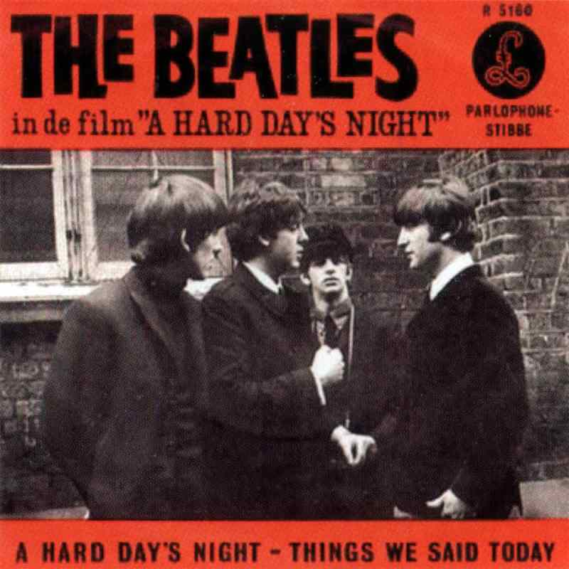 A Hard Day's Night single artwork - Netherlands